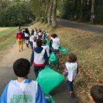 enfants de Villeherviers à l'opération Nettoyons la nature Septembre 2020