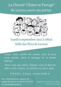 Affiche chorale Loreux